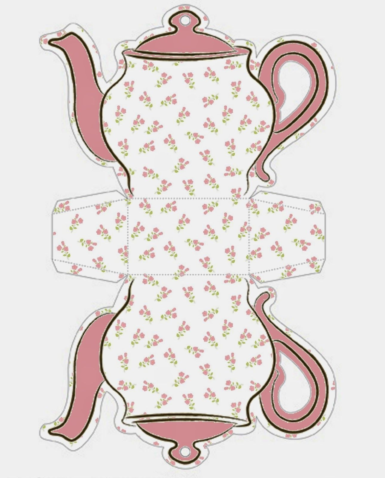Tea Cup Template Free Printable   Shabby Chic Teapot Free Printable - Free Teapot Printable