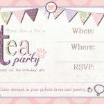 Tea Party Invitation Template Download – Invitetown | Girls' Tea   Free Printable Vintage Tea Party Invitations