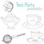 Tea Party Printables   Free Printable Tea Cup Coloring Pages