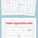 Teacher Appreciation Week Bingo | Teacher | Free Bingo Cards, Word   Free Printable Bingo Cards For Teachers
