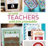 Teacher Gift Card Ideas & Gift Card Holder Printables   Fabulessly   Free Printable Teacher Appreciation Cards