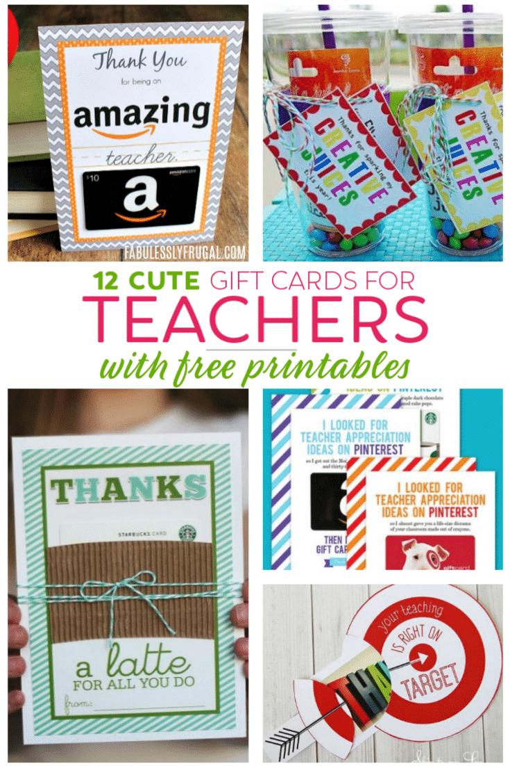 Teacher Gift Card Ideas & Gift Card Holder Printables - Fabulessly - Free Printable Teacher Appreciation Gift Tags