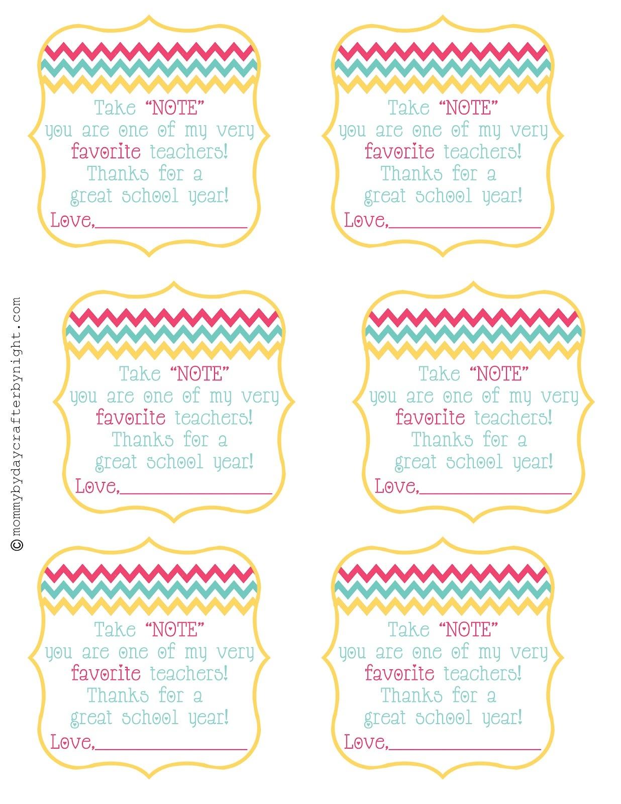 Teacher Gift Idea + Free Printable {Teacher Appreciation} | Skip To - Teacher Gift Tags Printable Free