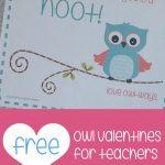 Teacher Mama: Free Printable Owl Valentines For Teachers   Boy Mama   Free Printables For Teachers