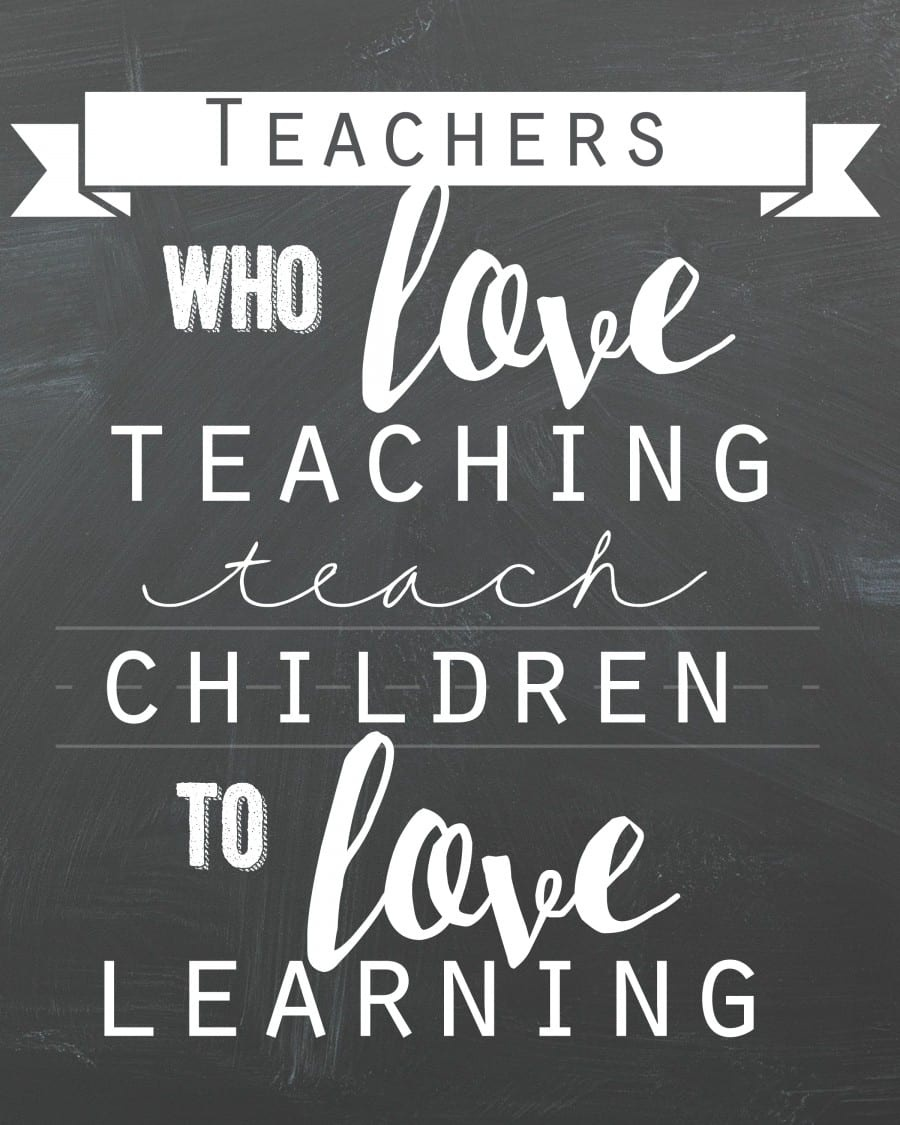 Teacher Quote Free Printable! - A Girl And A Glue Gun - Free Printable Quotes For Teachers