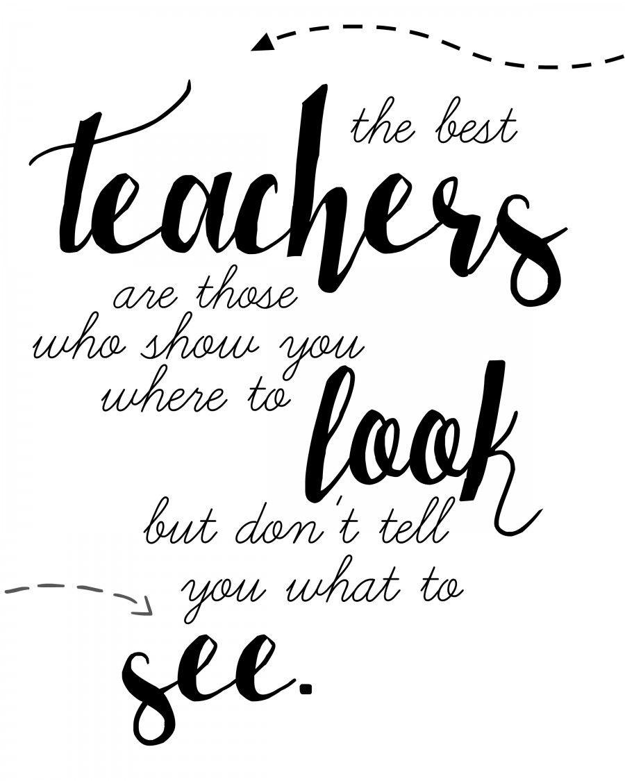 Teacher Quote Free Printable! | Words | Teacher Appreciation Quotes - Free Printable Quotes For Teachers