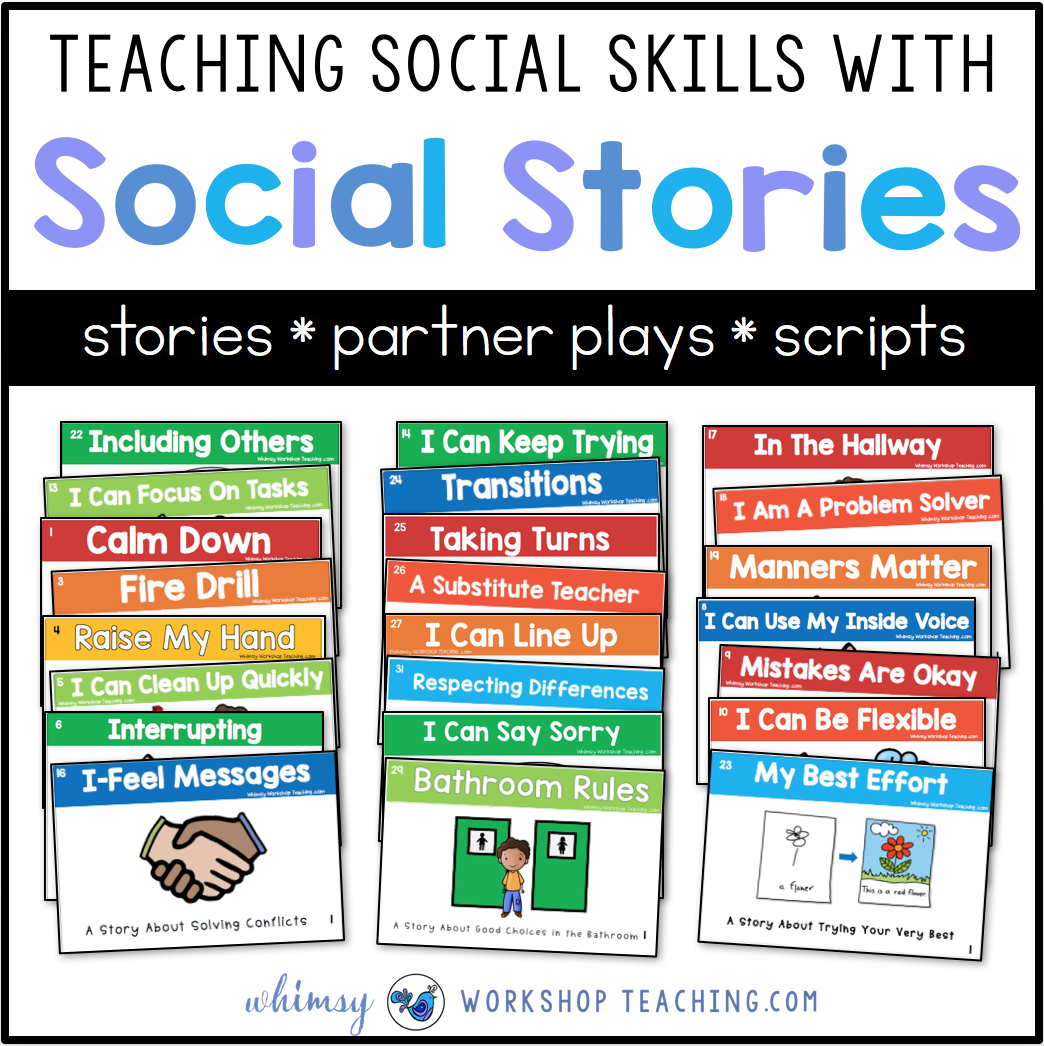 Teaching Social Skills With Social Stories - Whimsy Workshop Teaching - Free Printable Social Story Template