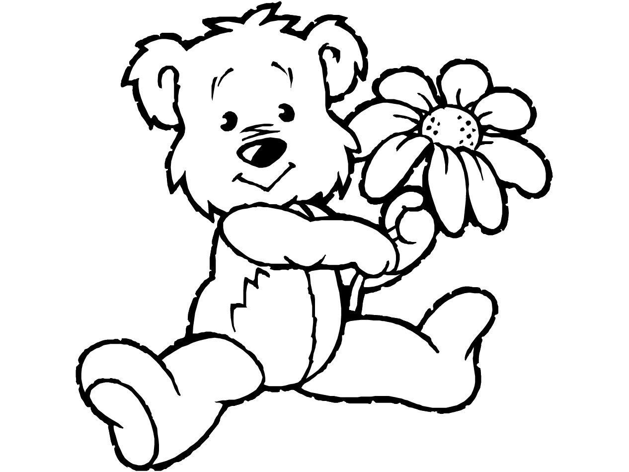Teddy Bear Coloring Pages Theme | Free Printable Teddy Bear Coloring - Teddy Bear Coloring Pages Free Printable