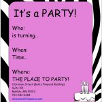 Teenage Girl Birthday Invitations Free Printable — Birthday   Free Printable Girl Birthday Party Invitations