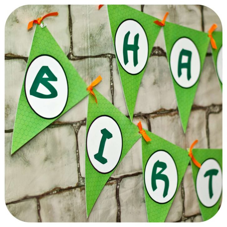 Free Printable Ninja Turtle Birthday Banner