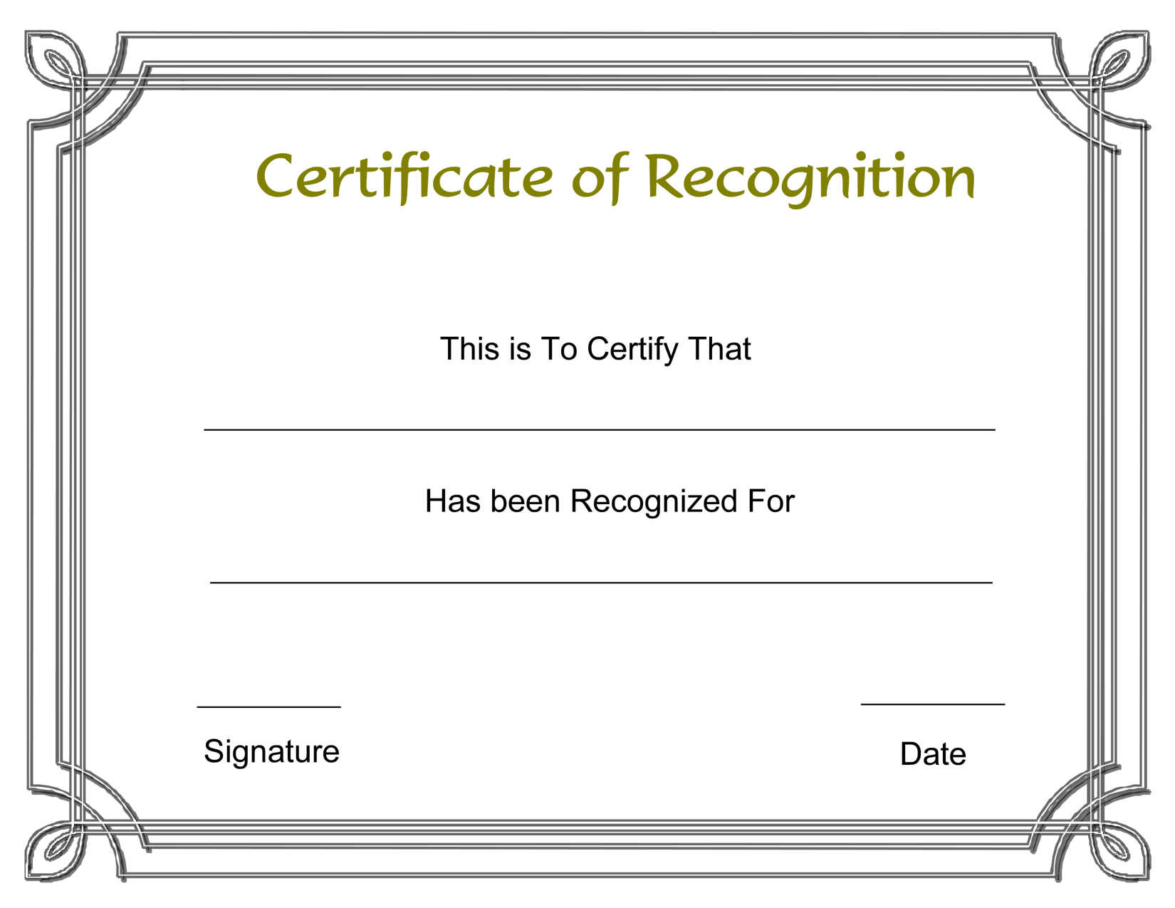 Template Free Award Certificate Templates And Employee Recognition - Free Printable Piano Recital Certificates