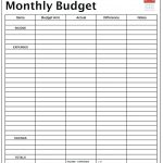 Template Ideas Income And Expense Spreadsheet For Monthly Budget   Free Printable Monthly Expense Sheet