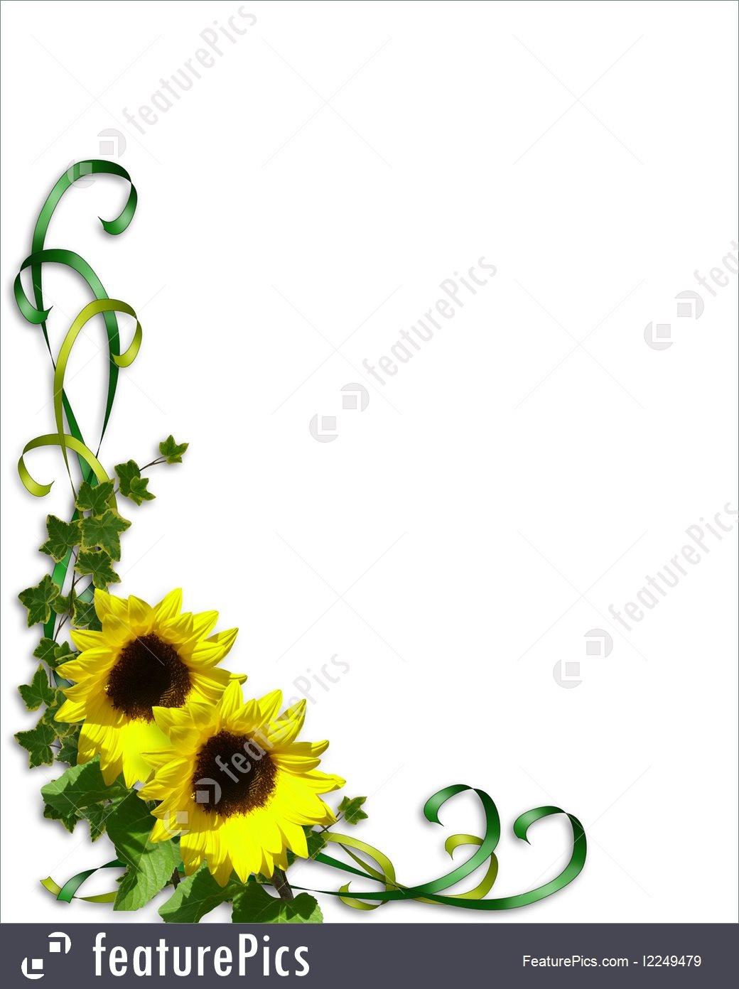 Templates: Sunflowers Wedding Invitation Template - Stock - Free Printable Sunflower Wedding Invitation Templates