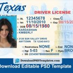 Texas Driver License Psd Template | Download Editable File   Free Printable Fake Drivers License