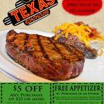 Texas Roadhouse Coupons (10)   Promo & Coupon Codes Updates   Texas Roadhouse Printable Coupons Free Appetizer