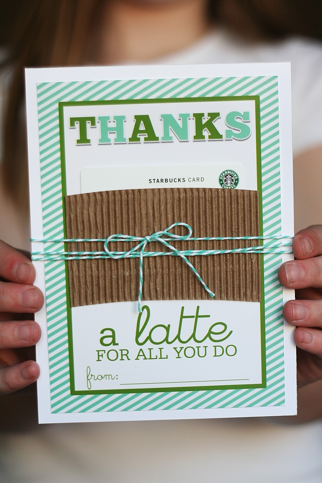 Thanks A Latte Card You Can Print For Free   Eighteen25 - Thanks A Latte Free Printable