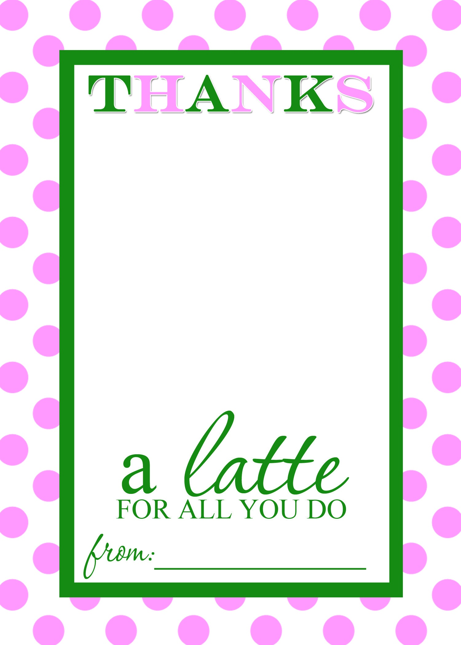 Thanks A Latte Free Printable Gift Card Holder Teacher Gift   Diy - Thanks A Latte Free Printable