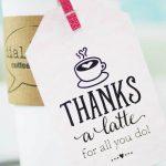 Thanks A Latte! Free Printable Gift Tags | Skip To My Lou   Thanks A Latte Free Printable Tag