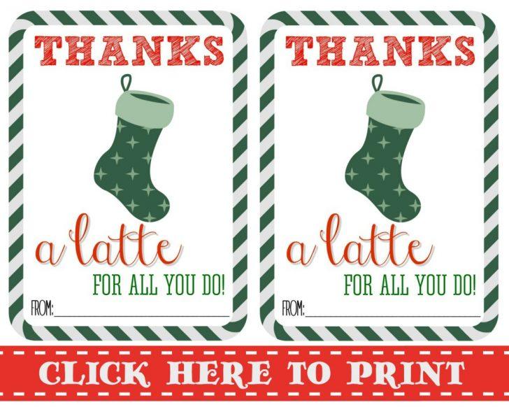 Thanks A Latte Free Printable