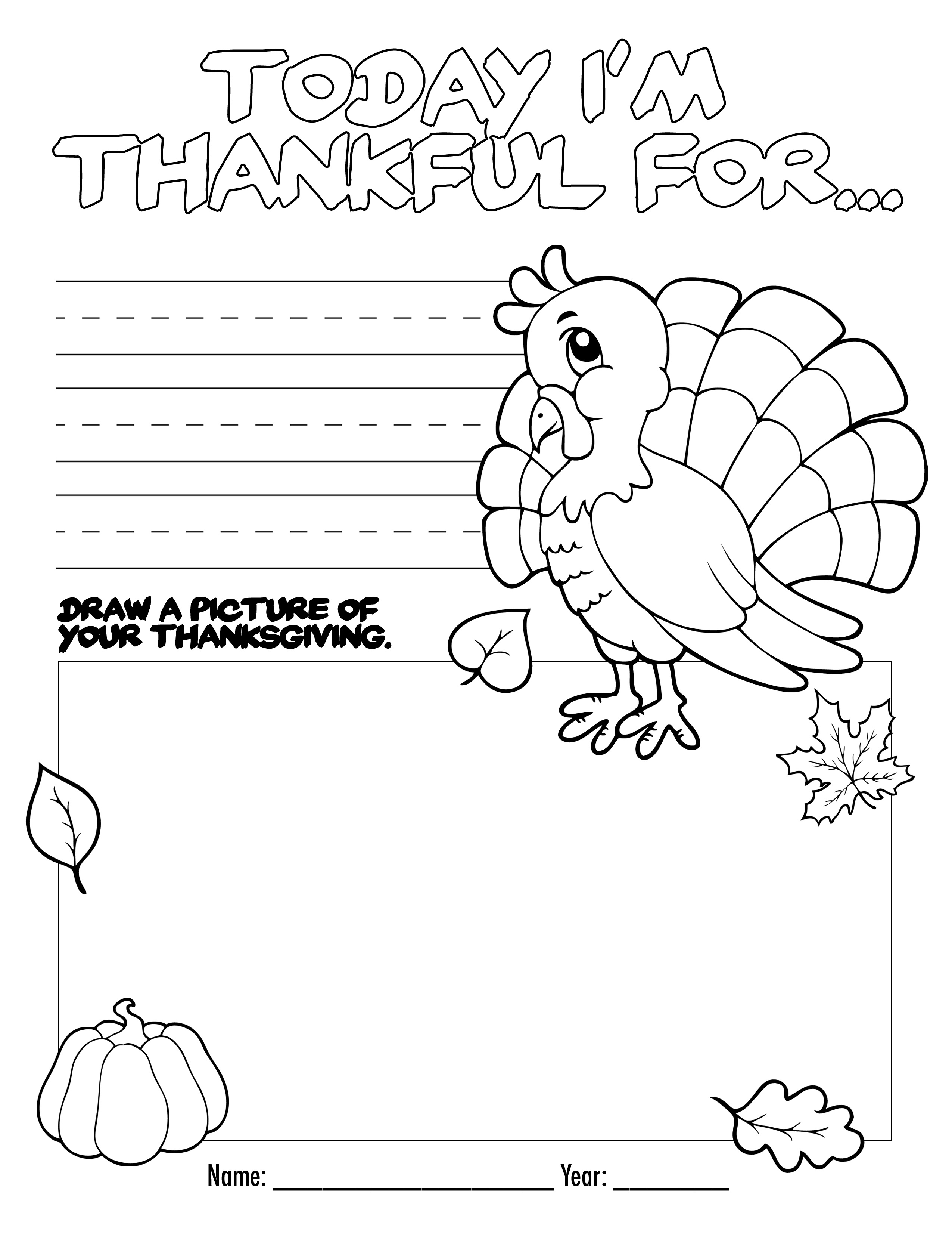 Thanksgiving Coloring Book Free Printable For The Kids! - Free Thanksgiving Printables