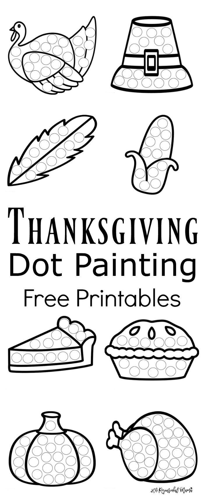 Thanksgiving Dot Painting {Free Printables} | Best Of Kids And - Free Dot Painting Printables