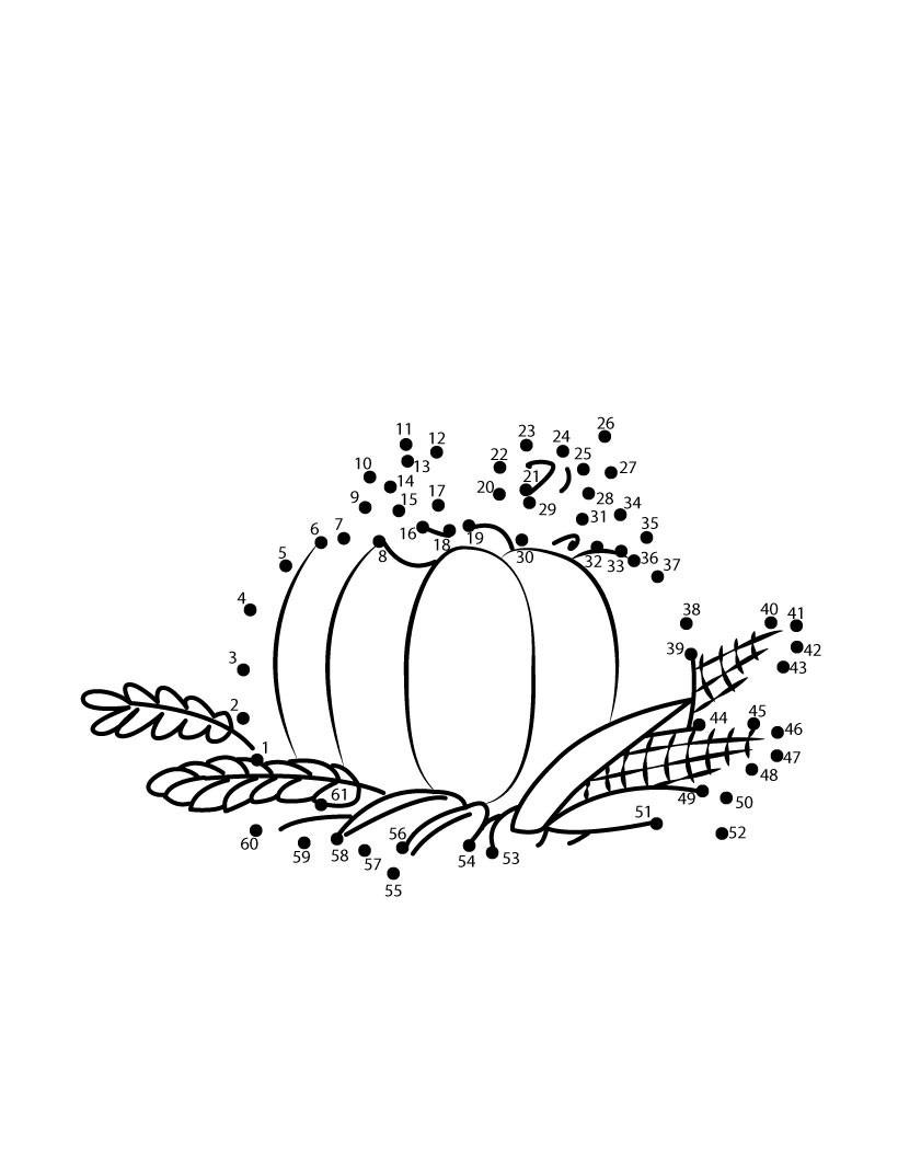 Thanksgiving Dot To Dot Games - Free Dot To Dot Printable Pages For Kids - Free Thanksgiving Printables Dot To Dot