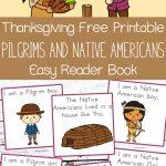 Thanksgiving Free Printable Easy Reader Book: Pilgrims And Native   Free Printable Thanksgiving Books