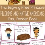Thanksgiving Free Printable Easy Reader Book: Pilgrims And Native   Thanksgiving Printable Books Free