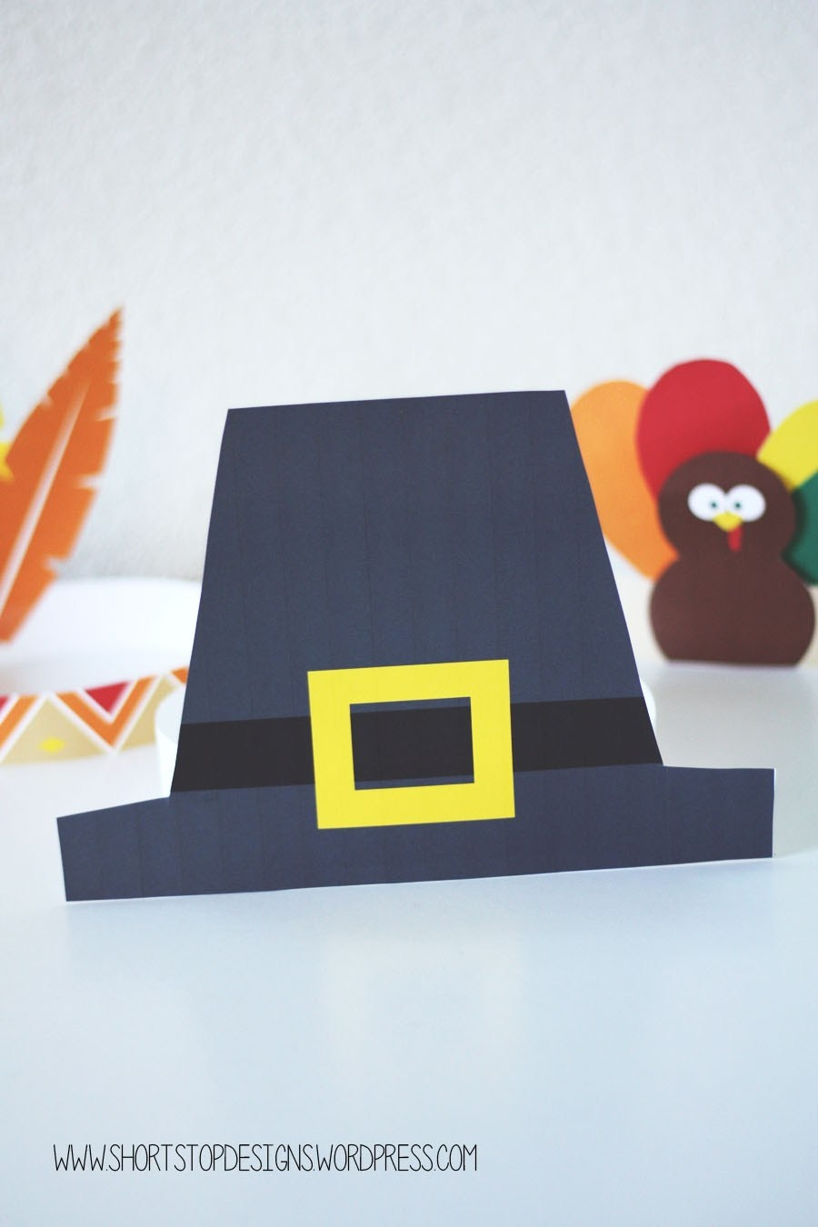 Thanksgiving Kids Hats – Free Printables – Short Stop Designs - Free Printable Pilgrim Hat Pattern