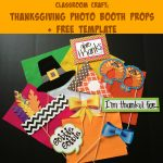 Thanksgiving Photo Booth Props For The Classroom & Free Template   Free Printable Thanksgiving Photo Props