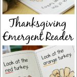Thanksgiving Printable Emergent Reader To Teach Kids Colors   Thanksgiving Printable Books Free