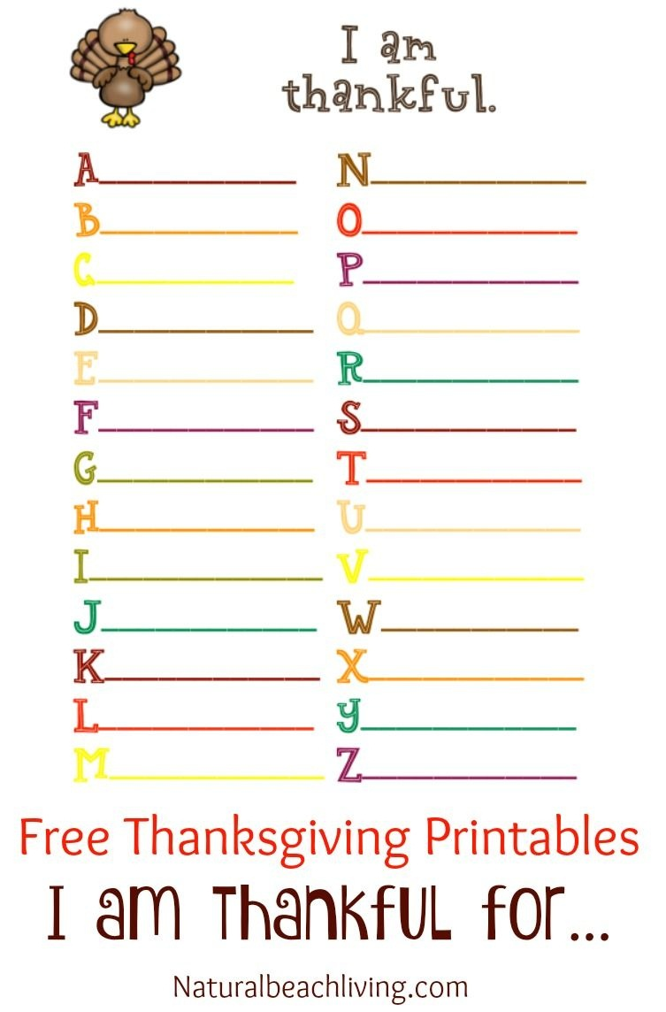 Thanksgiving Printables For Kids | Natural Beach Living - Free Printable Gratitude Worksheets