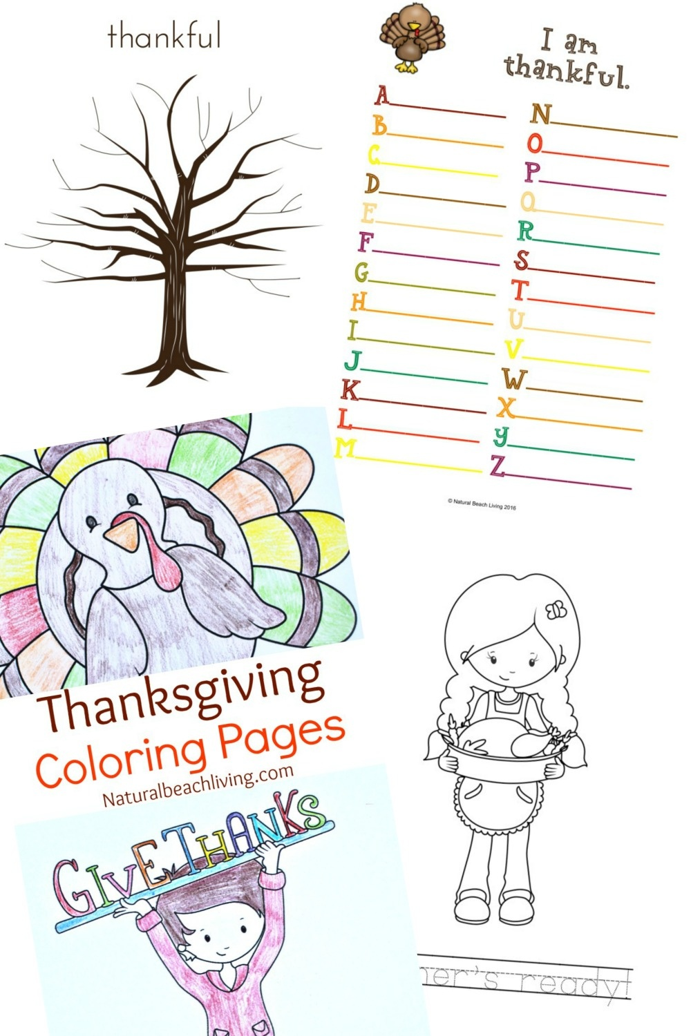 Thanksgiving Printables For Kids - Natural Beach Living - Free Thanksgiving Printables