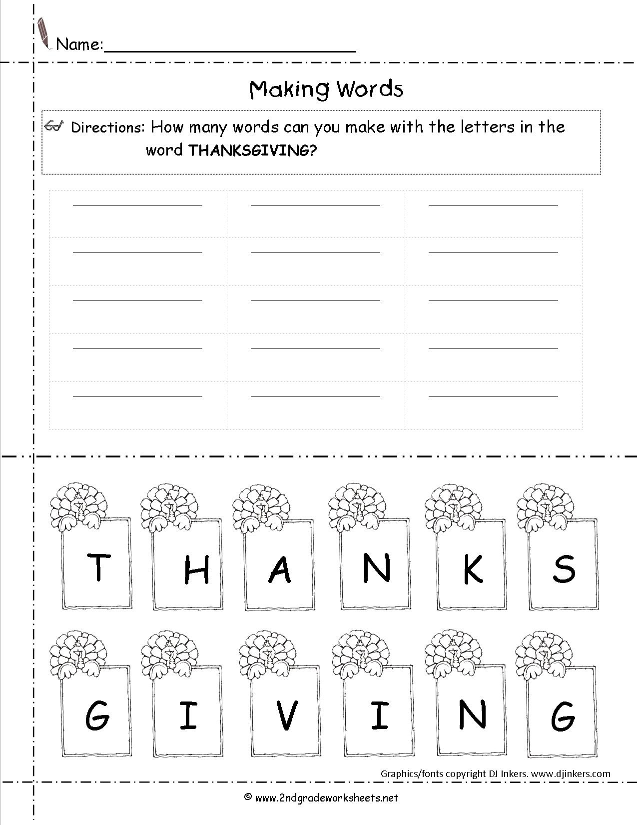 Thanksgiving Printouts And Worksheets - Math Worksheets Thanksgiving Free Printable