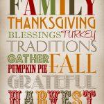 Thanksgiving Subway Art   Thanksgiving Printable   Free Printable Subway Art Template