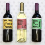 Thanksgiving Wine Labels + Free Printables   Free Printable Wine Labels