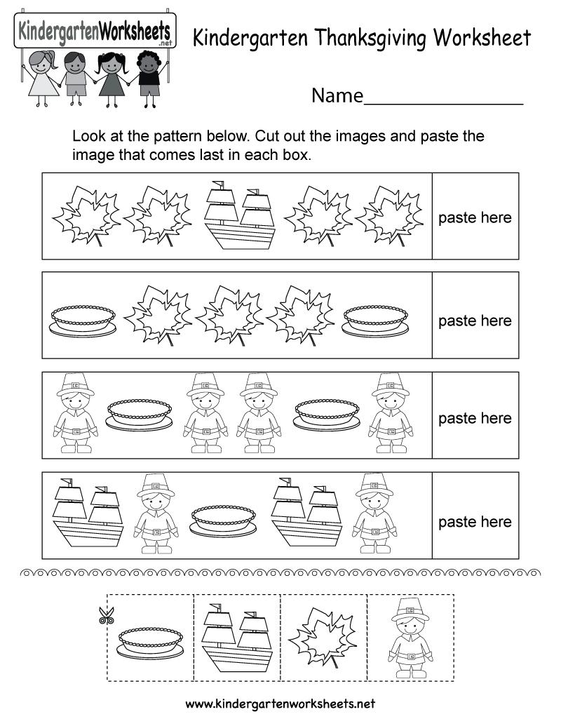 Thanksgiving Worksheet - Free Kindergarten Holiday Worksheet For Kids - Free Thanksgiving Printables