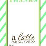 That's Country Living   Thanks A Latte Free Printable Card