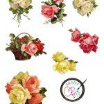 The Artzee Blog: Free Vintage Victorian Roses Printable | Free   Free Printable Decoupage Flowers