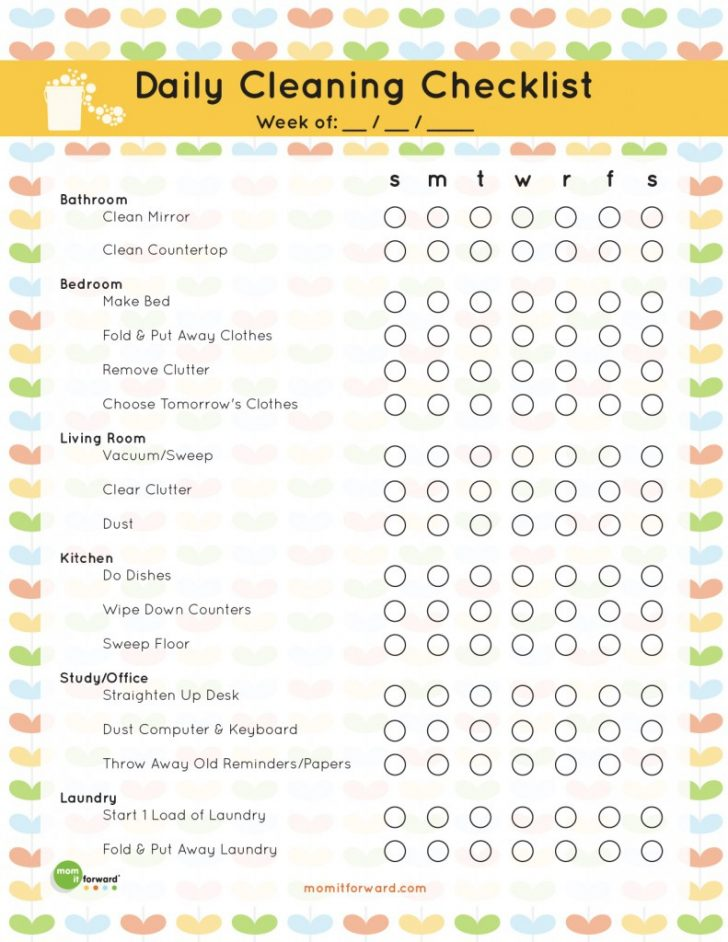 Free Printable House Cleaning Checklist