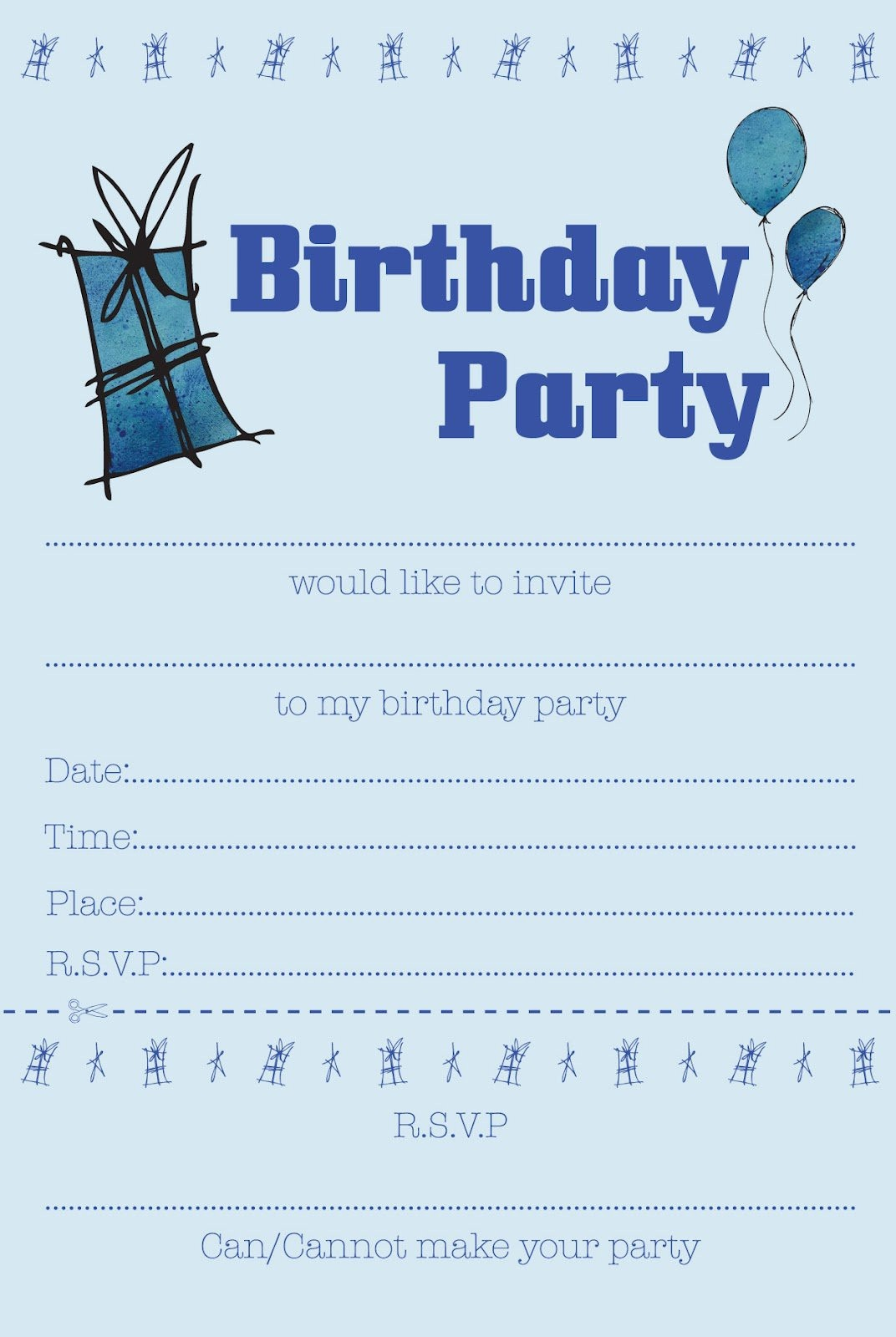 The Best Ideas For How To Make Birthday Invitations Online - Home - Free Printable Boy Birthday Invitations