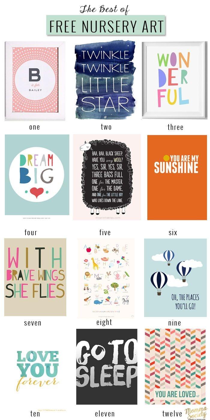 The Best Of: Free Nursery Art Printables | Nice For The Nursery - Free Nursery Printables Boy