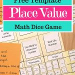 The Best Place Value Folder Game Printable {For Free!}   Place Value Game Printable Free