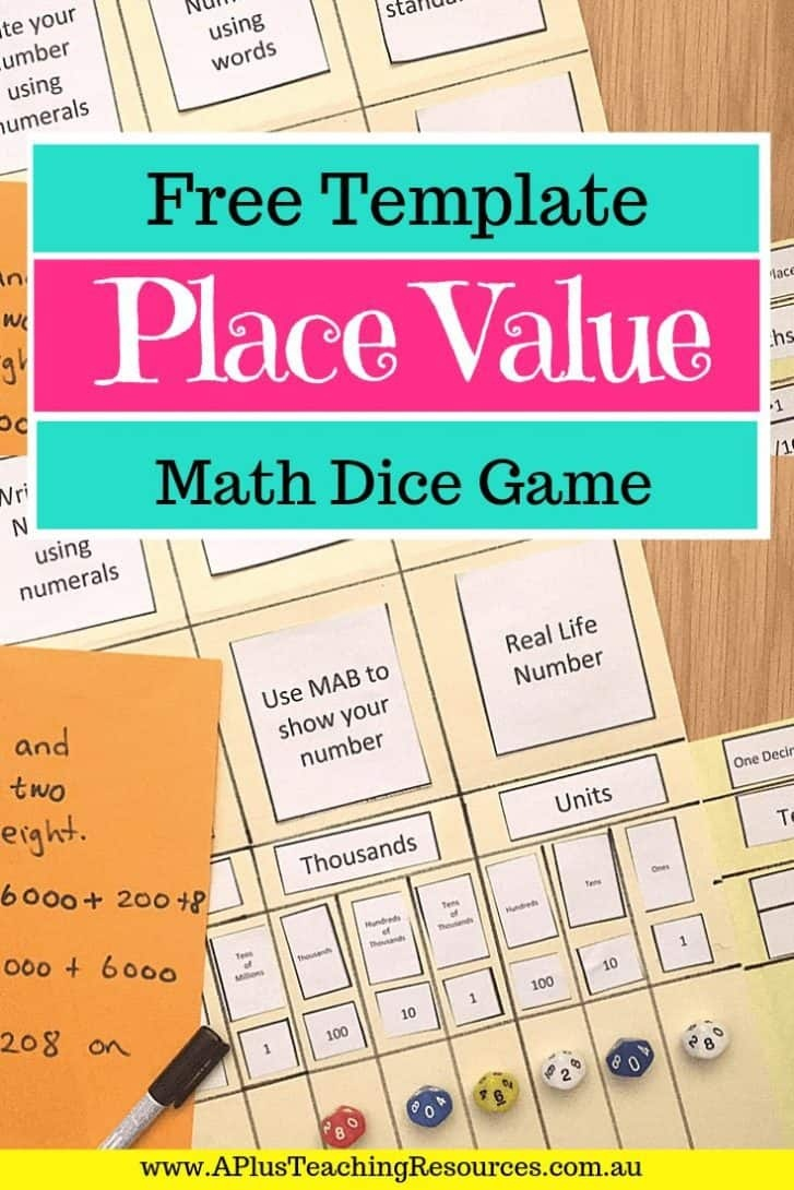 The Best Place Value Folder Game Printable {For Free!} - Place Value Game Printable Free