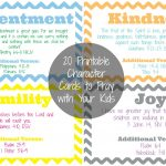 The Busy Mom's Guide To Teaching Character   The Purposeful Mom   Free Printable Prayer Cards For Children