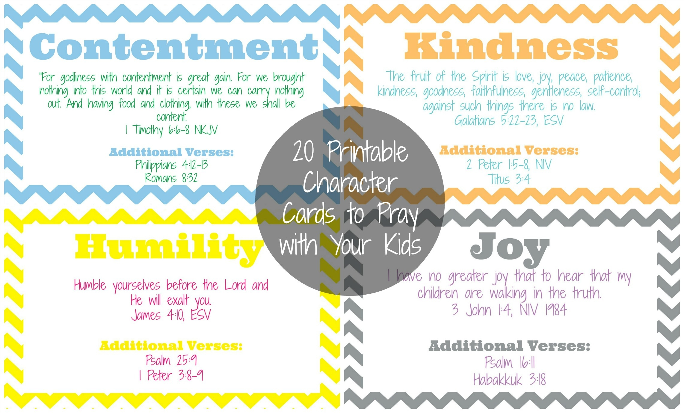 The Busy Mom's Guide To Teaching Character - The Purposeful Mom - Free Printable Prayer Cards For Children