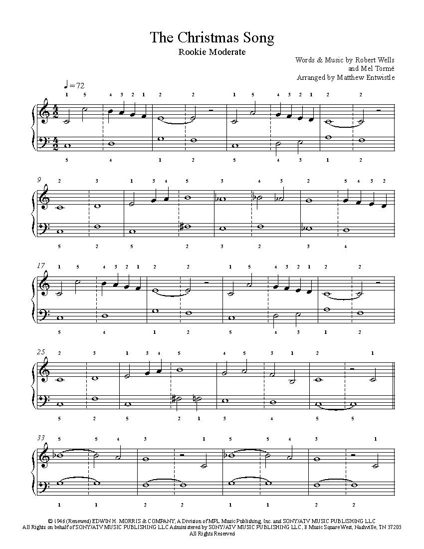 Christmas Songs Piano Sheet Music Free Printable | Free Printable
