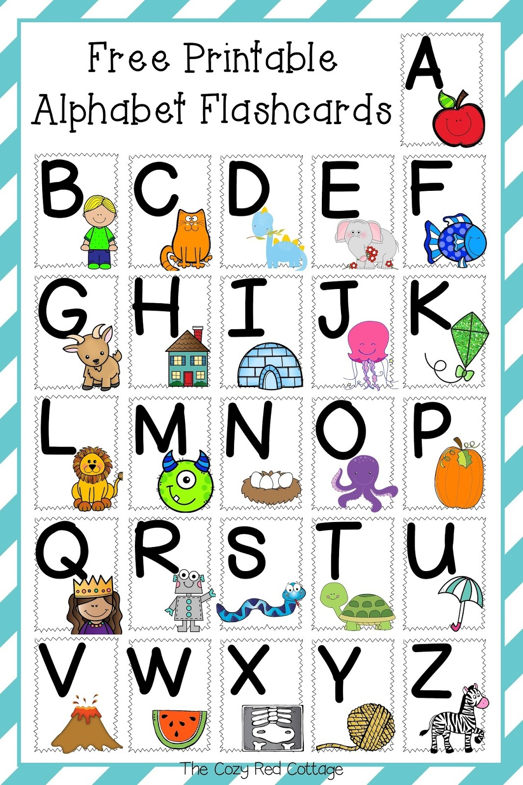 The Cozy Red Cottage: Free Printable Alphabet Flashcards - Abc Flash Cards Free Printable