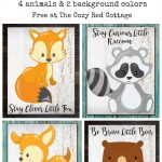 The Cozy Red Cottage: Free Woodland Animal Prints   Free Woodland Animal Printables