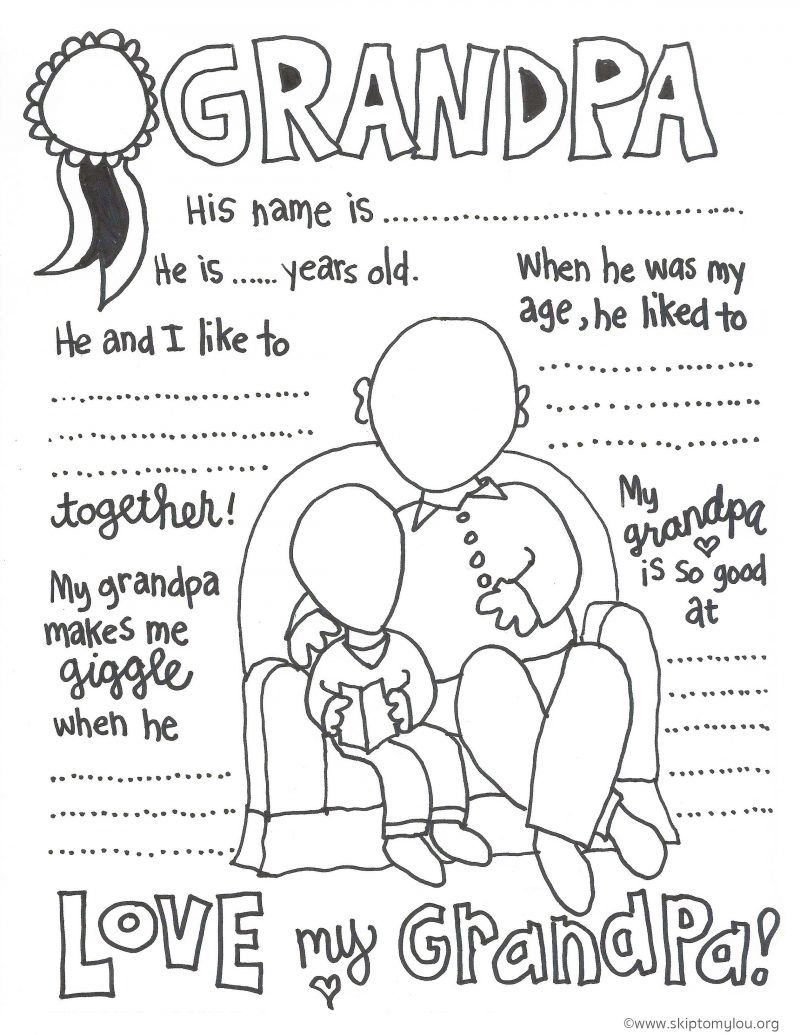 The Cutest Grandparents Day Coloring Pages | Gifts | Grandparents - Free Printable Fathers Day Coloring Pages For Grandpa
